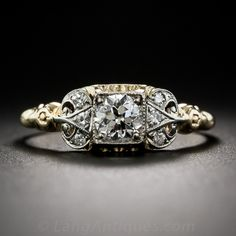 Diamond Vintage Engagement Ring by Jabel, ca. 1920s