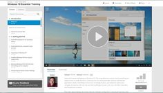 Lynda: Updated1/11/2016 Released7/29/2015  Learn all the essential features of Windows 10. This comprehensive course covers everything you need to know to install Windows, customize it to your liking, and start working with files and applications. Author Nick Brazzi shows how to manage folders, use Cortana to search and navigate, browse the web with the new Microsoft Edge browser, and work with Mail, Calendars, and People (aka contacts).