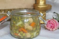 vegan joy: Jellied vegetables with tapioca