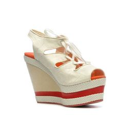 Phillip Simon Adele Wedge White now featured on Fab.