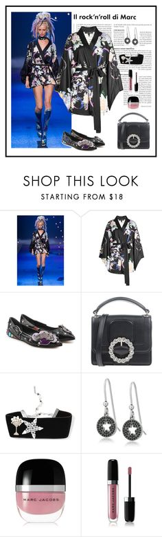 """""""Marc Jacobs Silk Kimono Dress Look"""" by romaboots-1 ❤ liked on Polyvore featuring Marc, Marc Jacobs and Marc by Marc Jacobs"""