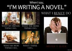 When I say I'm writing a novel... - Writers Write Creative Blog