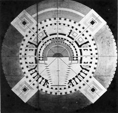 archiveofaffinities: Étienne-Louis Boullée, Design for an Opera House, Plan, 1781/ Sacred Geometry <3