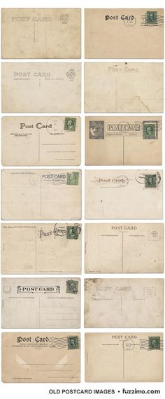 Printable vintage postcards - maybe get guests to leave us, or post us a postcard as the guest book.