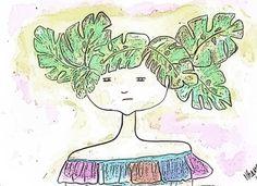 Trópico. Pastel and Color Pencil. By:  Mónica Araúz. Follow me:  Instagram: @ithavee.  Facebook:  Mónica Araúz