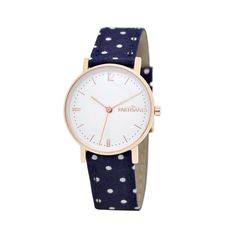 L'Audacieuse or rose marine à pois. #lespartisanes #watch #womenwatch #paris #madeinfrance #navy