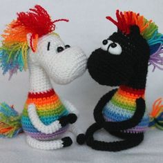 Crochet arco-íris cavalo livre amigurumi padrão