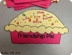"Friendship Pie Activity- Great supplement for the book ""Enemy Pie by Derek Munson"""