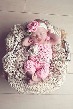 Baby Spring Flower Romper & Headband Set  by WarmFuzzyBoutique, $44.99