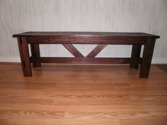 wood bench 3' rustic x  table/  tv stand/  by OLDWOODWORKERSHACK, $85.00