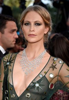Poppy Delevingne - #Chopard Diamonds necklace #Cannes2015