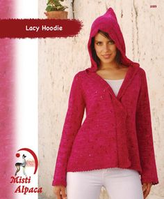 Lacy Hoodie in Misti Alpaca Tonos Pima Silk - 1089. Discover more Patterns by Misti Alpaca at LoveKnitting. We stock patterns, yarn, needles and books from all of your favorite brands.