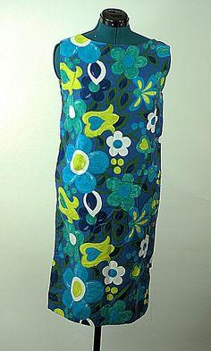 Mod Breezy Life Vintage 1960 Cotton Shift, #vintagedress #mod #cottondress #summer #plussize