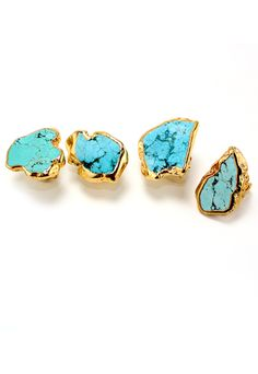 I'm usually more of a silver girl, but Turquoise makes everything look better! -including these awesome rings!!