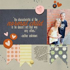 Layout by Summer Fullteron using Lily Bee Design Persnickety collection  #lilybee #lilybeedesign #scrapbook