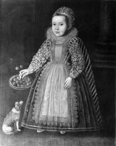 "Attributed to Paul van Somer (ca. 1576–1621), ""Portrait of a Little Girl, with a Dog, and a Dish of Cherries,"" 17th century. Oil on panel, 40 x 32 in. Photographed in 1925 at a sale in London. The Frick Collection / Frick Art Reference Library Photoarchive. #girlsbestfriend #welovedogs"