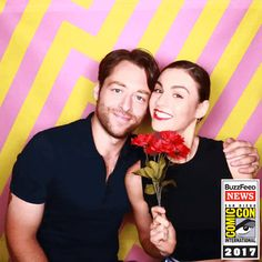 sophie skelton and richard rankin buzzfeed photo booth 2017 comic con