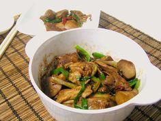 my fluffy kitchen: Braised Chicken with King Oyster Mushroom