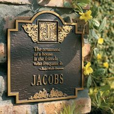 Emerson Plaques - Bronze/Gold, Lawn - Grandin Road by Grandin Road. $89.00