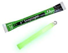 "Amazon.com: Cyalume SnapLight Industrial Grade Light Sticks, Green, 6"" Long, 12 Hour Duration (Pack of 10): Sports & Outdoors"