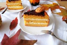 Torta di zucca con crema di mascarpone French Toast, Cheesecake, Breakfast, Desserts, Food, Cream, Mascarpone, Morning Coffee, Tailgate Desserts