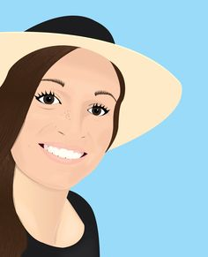 Drew my girlfriend in illustrator #vector #vectorart #vectorportrait