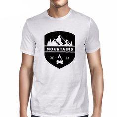 1de95b7183 Mountains T Shirt. T-shirt HippieT ShirtHarajukuPrintedV NeckNatureHipster ManMens  TopsGraphic Tees