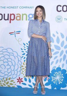 Fantasy Fashion Design: Jessica Alba vestida de Michael Kors en la conferencia de prensa 'Coupang'