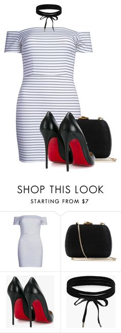 """""""Untitled #2511"""" by c0kkiemonsterrx3 ❤ liked on Polyvore featuring WithChic, Serpui, Christian Louboutin and Boohoo"""