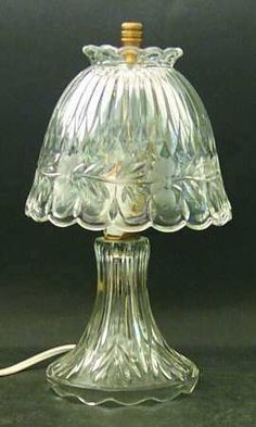 Princess House Crystal Electric Lamp.  Beautiful--hope I run across one of these someday as I am out brousing fleamarkets!