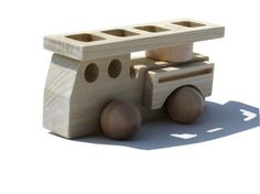 Wood Toy Firetruck