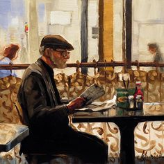 """A Painting Today: """"The Day's News"""" Karin Jurick"""