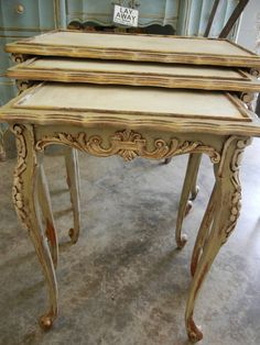chalk painted furniture ideas | painted in annie sloan chalk paint colors versailles and old white ...