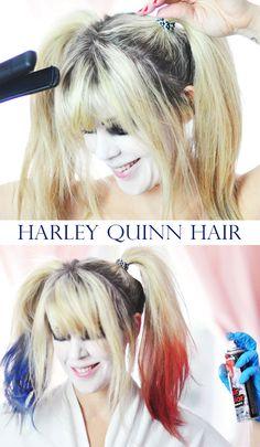 Harley Quinn Makeup & Hair // Batman Arkham Knight DIY Costume