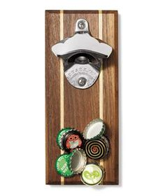 DropCatch Bottle Opener: The superstrong concealed magnet turns potential morning-after mess into a memento. Holds 52 caps.