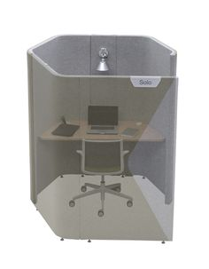 Haven Pod Solo (Full Height)- Solo provides a solution for short-term desk based environments, be it for individual focused work away from the general workstation environment or as a temporary location for a non-desk based employee. Solo incorporates desktop power and vertical cable management.