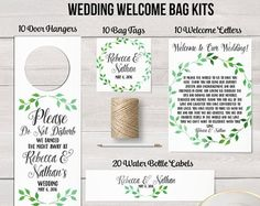 Items similar to Wedding welcome bag, Wedding guest bag, Destination wedding bag, Out of town bag, bridesmaid proposal, Welcome Bag, Door hanger, snack label on Etsy