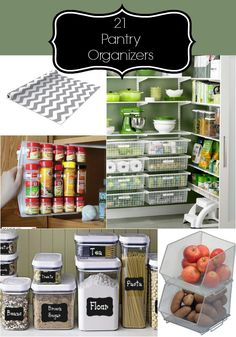 Items that are great to have for an organized and tidy pantry. I need to invest in getting organized and keeping it that way.