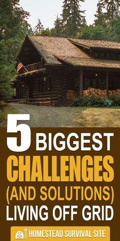 Going off grid might sound really nice, but it also comes with some major challenges. Here are five of them, along with solutions. #offthegrid #offgridliving #homesteading #homestead