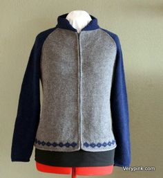 Knit a woman's letterman-style sweater. Top-down, raglan. Video includes seaming, icord edges, working fair isle, working short rows and installing a zipper.