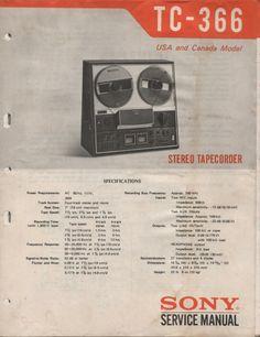 Sony TC-366 stereo taperecorder