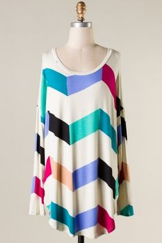Chevron Tunic Curvy Plus - Country Couture