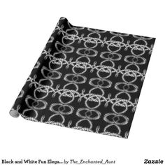 Black and White Fun Elegant Abstract Art Pattern Wrapping Paper. Each design has been hand-drawn and each pattern is unique. Originally abstract monograms have been morphed to form a pattern into this abstract design. Unique Wrapping Paper, White Wrapping Paper, Wrapping Paper Design, Pattern Art, Monograms, Hand Drawn, Unique Gifts, How To Draw Hands, Photo Gifts
