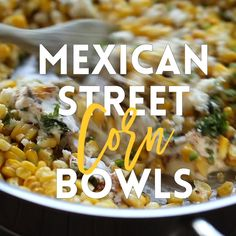 Mexican Street Corn Bowls is part of Mexican food recipes Mexican Street Corn Bowls Mexican elote is served up right in these hearty bowls with whole grains, pico de gallo, black beans, avocado and - Mexican Dishes, Mexican Food Recipes, Vegetarian Recipes, Dinner Recipes, Cooking Recipes, Healthy Recipes, Mexican Corn, Mexican Bowl Recipe, Real Mexican Food
