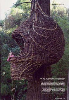 Weaver's bird nest tree house... what a fun idea