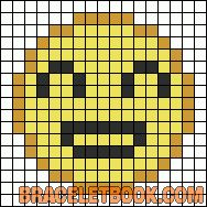 Smiley emoticon perler bead pattern
