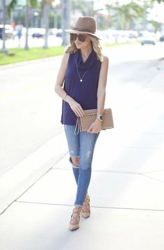A Spoonful of Style: Sleeveless Cowl neck Sweater...
