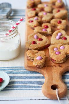 Peanut Butter Chip Heart Cookies