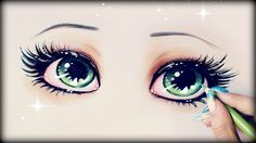 Drawing Tutorial ❤ How to draw and color Green Eyes