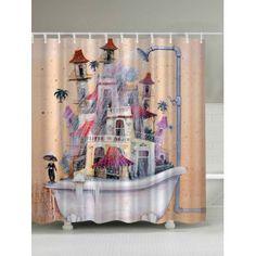 Waterproof Dramatic House Bathtub Shower Curtain